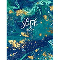 """Sketch Book: Large Notebook for Drawing, Doodling or Sketching:  109 Pages, 8.5"""" x 11"""". Blue Marble Cover Sketchbook ( Blank Paper Drawing and Write Journal )"""
