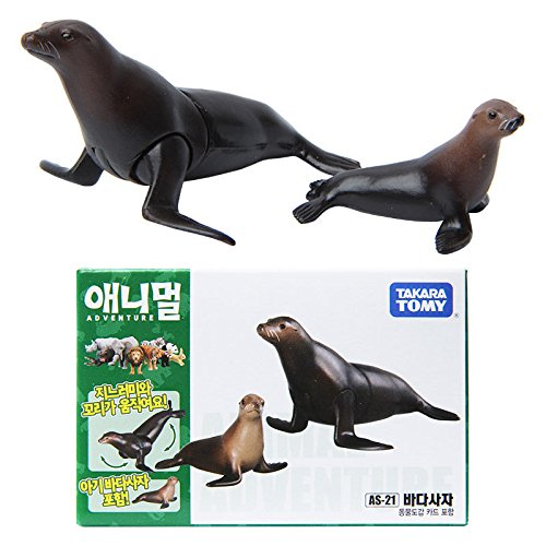 Takara Tomy ANIA Animal AS-21 Sea Lion Mini Action Figure Educational Toy 2pcs