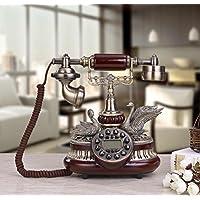 Classic wood antique phone old European style of the ancient European Swan villa creative couple rotary telephone landline