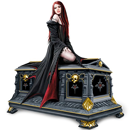 Anne Stokes Love Without End Gothic Vampire Music Box by The Bradford Exchange