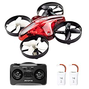 ATOYX AT-66 Mini Drone, RC Quadcopter Drone with Altitude Hold Headless Mode 3D Flips 3 Speeds Helicopter Drone with 2.4Ghz 6 Axis Gyro 4CH Portable Mini Pocket Drone for Kids and Beginners 519P0dFgo0L