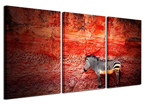 Gardenia Art - Animal Canvas Prints Zebra Wall Art Paintings