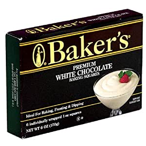 Baker's Premium White Chocolate Baking Squares, 6-Ounce Boxes (Pack of 6)