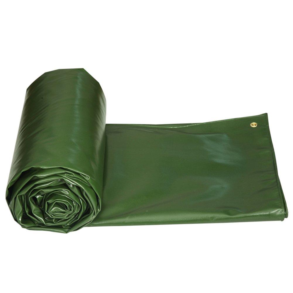 CHAOXIANG ターポリン 厚い シェード布 リノリウム 日焼け止め 耐寒性 雨が降った PVC、 550G/㎡、 8サイズ (色 : Green, サイズ さいず : 3.85 × 2.85 m) B07FYHW3HM 3.85 × 2.85 m|Green Green 3.85 × 2.85 m