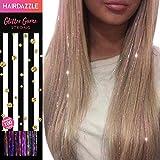 Hair Tinsel Glitter Strands - MULTICOLOUR - Hair Dazzle - Add Temporary Colour & Sparkle to Hair - Create Unicorn, Mermaid ot Rainbow hair - Xmas Present For Girls Age 7 8 9 10 years old, teenagers +
