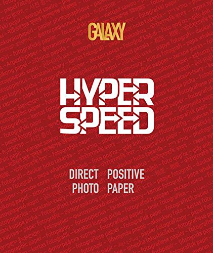 Galaxy Paper Hyper Speed Direct Positive (Reversal) RC Black & White Glossy Photo Paper, 4x5