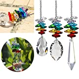 Sinwo Clearance Crystal Ball Pendant Accessories Colorful Octagonal Octagonal Hanging Drop (1PC B)