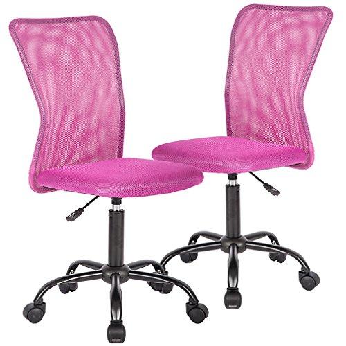Ergonomic Mesh Computer Office Desk Task Midback Task Chair Metal Base