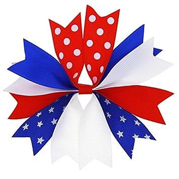 Amazon.com: adsro bandera americana Pinza de pelo, 4 de ...