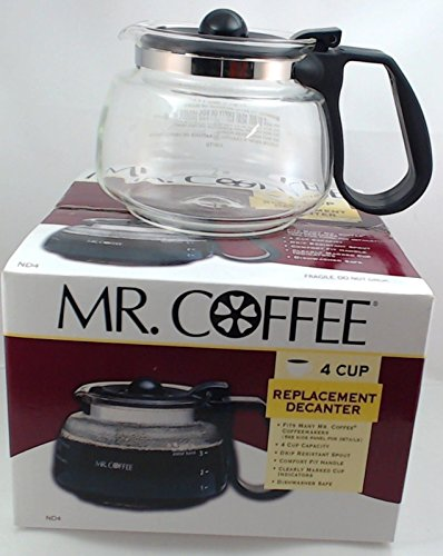 Mr. Coffee Replacement 4-Cup Carafe, Black (Carafe Replacement White)