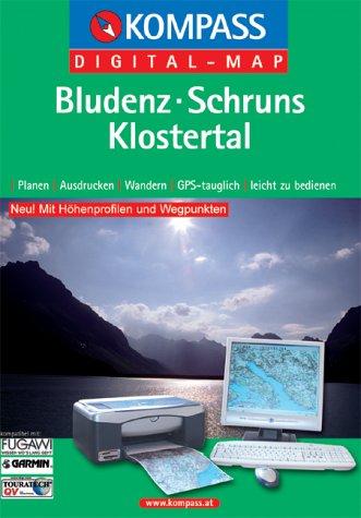 Bludenz - Schruns - Klostertal: Digital Map mit Kurzführer (KOMPASS Digitale Karten, Band 4032)