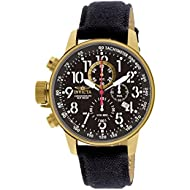 Men's 1515 I Force Collection 18k Gold Ion-Plated Watch with Black Cloth-Covered Band