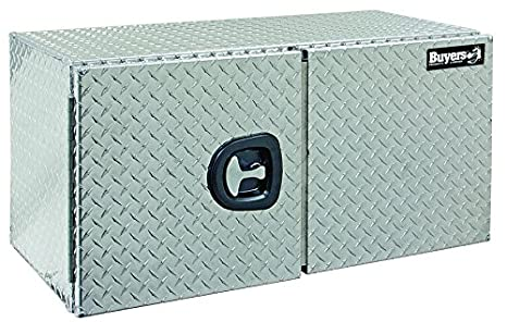24x24x36 Inch Buyers Products Smooth Aluminum Underbody Truck Box w//Barn Door