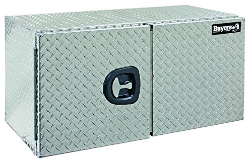 Buyers Products Diamond Tread Aluminum Underbody Truck Box w/ Barn Door (24x24x48 Inch) by Buyers Products