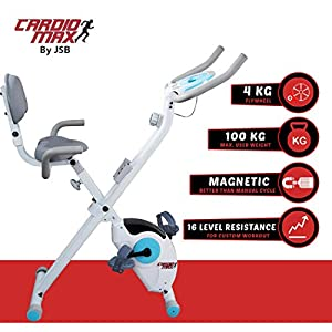 Cardio Max JSB Magnetic Upright Fitness X-Bike Exercise Cycle (HF78)