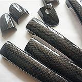1 Set Sport Carbon Fiber Style Door Handle Cover