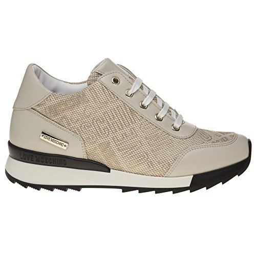 Love Moschino Logo Print Runner Damen Sneaker Neutral