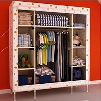 Generic Super Large Triple Portable Folding Wardrobe Reinforced Clothes Closet Rack New