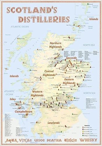 Schottland Karte Highlands.Scotland S Distilleries Whisky Karte Mit Allen Schottischen