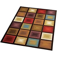 Optic Squares Geometric Modern Large Area Rug