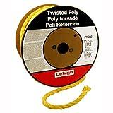Lehigh PY582 5/8-Inch by 200-Feet Polypropylene Twisted Rope, Yellow