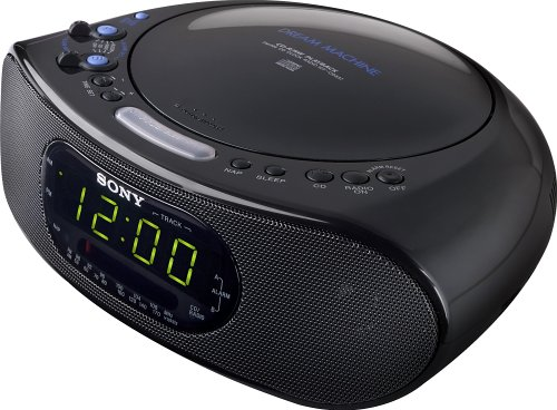 Sony ICF-CD837 AM/FM Stereo Clock Radio with CD Player (Black)