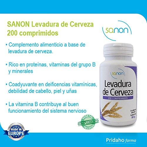 SANON - SANON Levadura de Cerveza 200 comprimidos de 400 mg: Amazon.es: Salud y cuidado personal