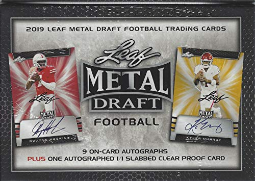 - 2019 Leaf Metal Draft Football JUMBO box (TEN Autograph cards)
