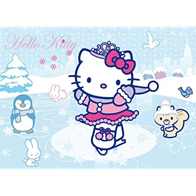 Clementoni 20023 Puzzle Glitter Hello Kitty Skating 104 Pezzi