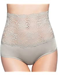 Corey High-Waisted Panties Slimming Floral Stretchy Lace Sexy Lingerie Underwear For Women