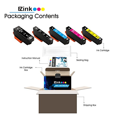 E-Z Ink (TM) Remanufactured Ink Cartridge Replacement for Epson 410XL 410 XL to use with Expression XP-530 XP-630 XP-635 XP-640 XP-830 (1 Black, 1 Cyan, 1 Magenta, 1 Yellow, 1 Photo Black) 5 Pack by E-Z Ink (Image #2)