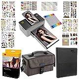 """Kodak Dock 4x6"""" Printer Gift Bundle + 40 Paper + 9 Unique Colorful Sticker Sets + Case + Markers + Photo Album + Sticker Frames"""