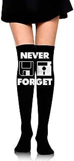 ruichangshichengjie Women's Knee High Sport Long Sock Never Forget for Football Sport Long Stockings