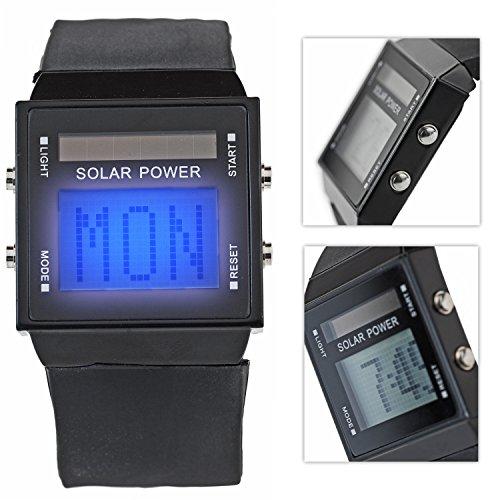 Stylische Solar LED Armband Uhr Schriftband Display