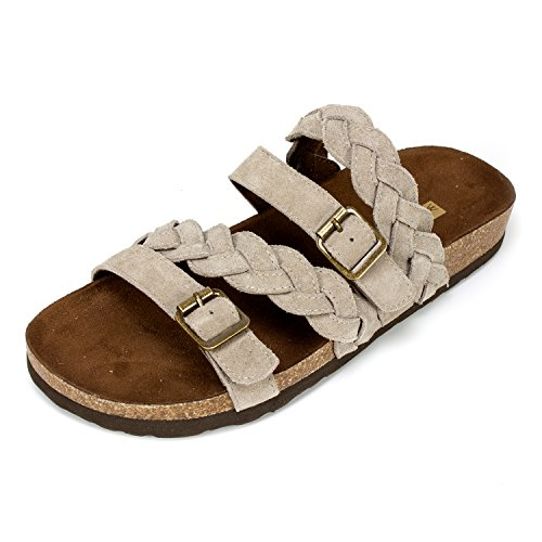 (WHITE MOUNTAIN Shoes 'Holland' Women's Sandal, Light Taupe - 9 M)