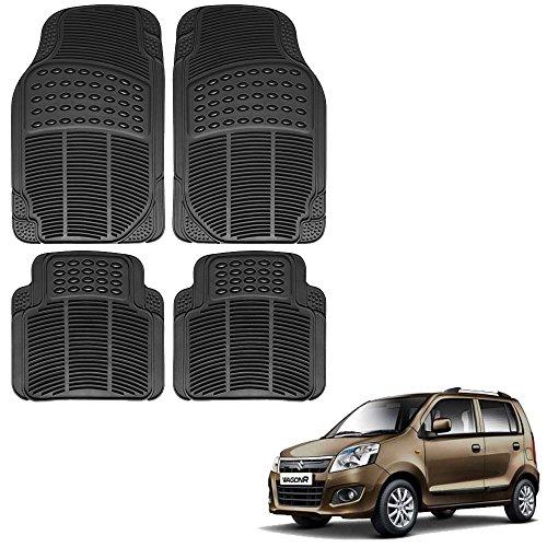 Vheelocityin Maruti Suzuki Wagon R 1.0 New Car Mat Black For Maruti Suzuki Wagon R 1.0 New