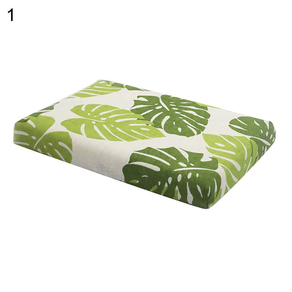Steellwingsf Kissen-Sitzpolster, weicher langsamer Rebound-Rutschfester Polyester-Quadrat-Print-Kissen-1
