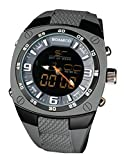 BOAMIGO Men's Sports Military Army Fashion Watches Led Digital Analog Wristwatches Grey Rubber Strap