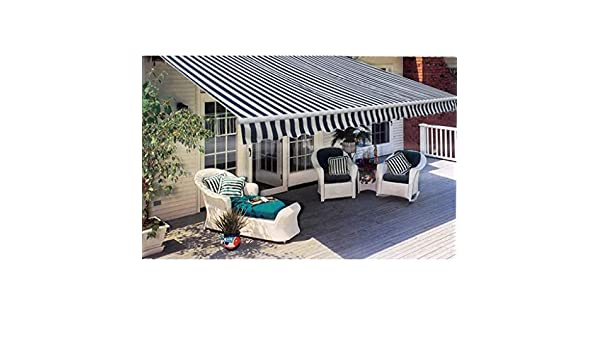 Fesjoy DIY Patio retráctil Manual toldo, toldo Plegable jardín Sun Shade Dosel Gazebo 3 m Azul/Blanco: Amazon.es: Electrónica
