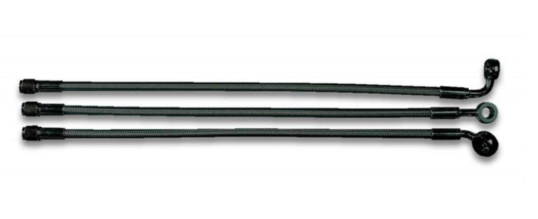 Magnum Black Pearl Designer Series ABS Front Upper Brake Line - 10mm. 180deg. Banjo - 25in. AS47625