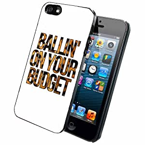 Ballin on Your Budget - Phone Case Back Cover (iPhone 5 5s - plastic) includes BleuReign(TM) Cloth and Warranty Label