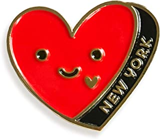 product image for Night Owl Paper Goods New York Heart Enamel Pin, Gold