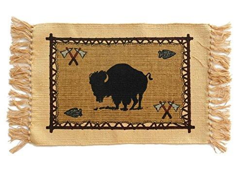 SB Co Southwest Cotton Stencil Placemats-Mountain Wildlife Buffalo