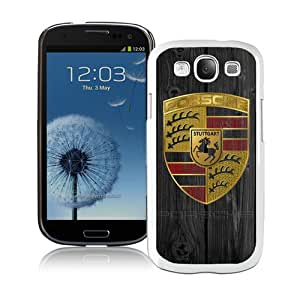 Beautiful Samsung Galaxy S3 Case ,Unique And Lovely Designed With Porsche logo White Samsung Galaxy S3 Phone Case