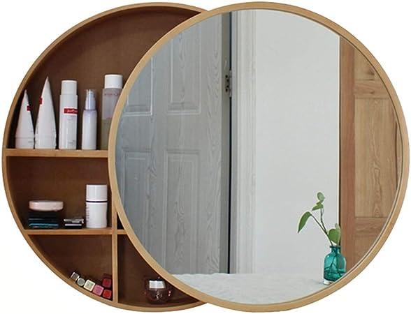Armarios con espejo de baño de Madera Maciza Colgador de Pared ...