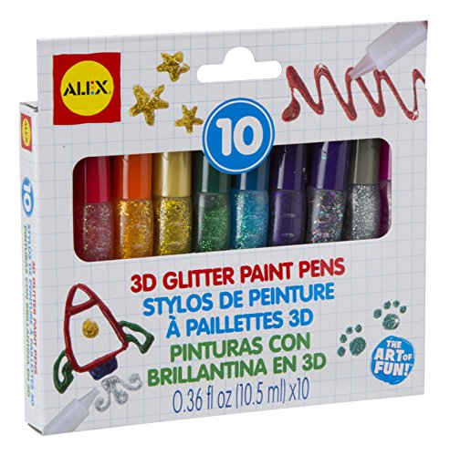 Wholesale ALEX Toys Artist Studio 10 3D Glitter Paint Pens for cheap