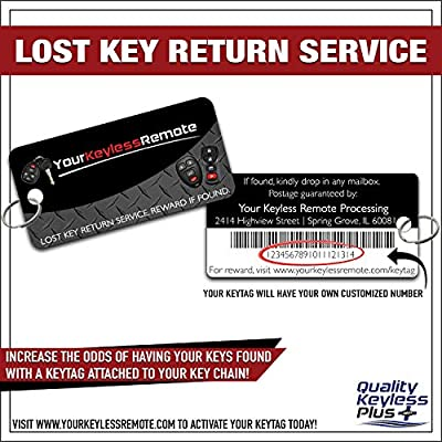 QualityKeylessPlus Replacement Keyless Entry Remote Start Flip Switchblade Key Compatible for Ford P/N 164-R8134 Free KEYTAG: Car Electronics