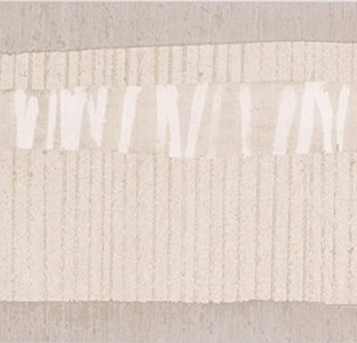 Brown Beige White Abstract Wallpaper Border Paint by Design, Roll 15' x 7''