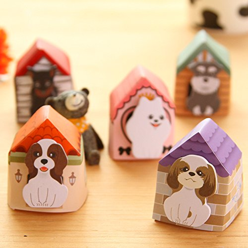 MiiSii(TM) 4 Packs Cute Cartoon Kawaii Animal Cats Dogs Post-it Self-Stick Memo Sticky Notes Pads (30 sheets each) + FREE GIFT (Dog)