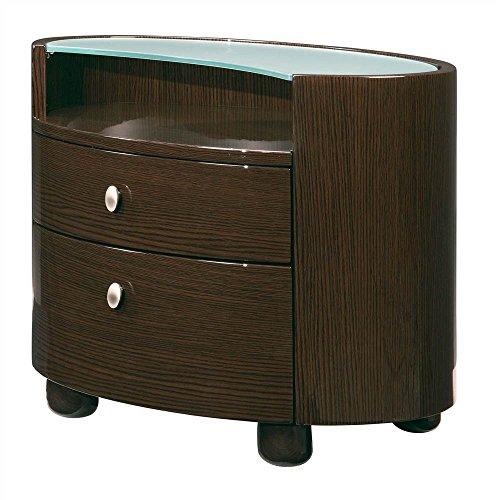 Global Furniture Emily/Evelyn Collection MDF/Wood Veneer Nightstand, Wenge